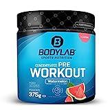 Bodylab24 Concentrated Pre Workout 375g | Pre-Workout Booster mit Aminosäuren und Koffein | Wassermelone
