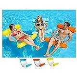 Zoloyo schwimmendes Bett, aufblasbare Wasser-Hängematte, schwimmendes Bett, Lounge-Sessel, Drifter, Schwimmbad, Strand, für Erwachsene blau