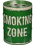 Aschenbecher Metall Sturmaschenbecher Windaschenbecher für Drinnen und Draussen »Ölfass« Smoking (Smoking Zone Grün)