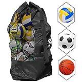 NATUCE Ballnetz Große Ballsack Balltasche Fußball Meshbag für 10-15 Bälle Mehrzweck Sport Netztasche mit Kordelzug und Schultergurt Wasserdicht Ballnetz - 110 * 49 cm