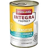 animonda Integra Protect Sensitive Hund, Diät Hundefutter, Nassfutter bei Futtermittelallergie, Pferd + Amaranth, 6 x 400 g