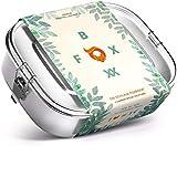 FOXBOXX® Brotdose Edelstahl   Mini 800ml   Premium   Auslaufsicher mit 3 Fächer / 2 Trenner plastikfrei nachhaltig   Lunchbox Brotbox Vesperdose Brotbüchse Brotzeitbox   Kind Schule Kindergarten