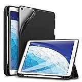 ESR Hülle kompatibel mit iPad Air 3 2019 10.5 Zoll - Ultra Dünnes Smart Case mit Stifthalter - Auto Schlaf-/Aufwachfunktion - Kratzfeste Schutzhülle für iPad 10.5' 2019 - Schwarz
