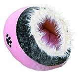 Trixie 36301 Kuschelhöhle Minou, 35 × 26 × 41 cm, rosa/grau