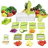 YRYP 10 in 1 Verstellbarer Mandoline Gemüseschneider Kartoffelschneider, Zerteilen Gemüse Obst Schnell und gleichmäßig, Multischneider, Gemüsehobel, Gemüseschäler, Gemüsereibe und in 1