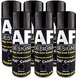 Alex Flittner Designs Thermolack Spray 6 Spraydosen Ofenlack Auspufflack Hitzebest. 650 °C Schwarz 400ml