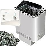 Sawo Nordex Saunaofen 9 kW + Saunasteuerung Ondal K1-1 für die finnische Sauna + Steine