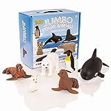 Learning Minds Set mit 6 Jumbo Polar Tierfiguren