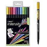 BIC Intensity Fineliner, 10er Set, Fasermaler für Mandalas und mehr, In verschiedenen bunten Farben