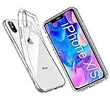 Whew Hülle Kompatibel mit iPhone X/XS, [Anti-Gelb] [Anti-Kratzer] [Anti-Fingerabdruck] Ultradünn Clear TPU Case Silikon Weich Schutzhülle, Stoßfest Handyhülle für iPhone X/XS -Transparent