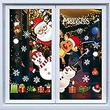 Weihnachtsdeko Fenster, Weihnachten Fensterbilder, Weihnachten Fenstersticker Fensteraufkleber PVC Fensterdeko Selbstklebend, für Türen Schaufenster Vitrinen Glasfronten Deko