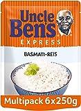 Uncle Ben's Express-Reis Basmati Reis, 6 Packungen (6 x 250g)