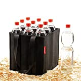 ONEST Flaschentasche – Zuverlässiger Flaschenträger auch für 1,5L Flaschen – Flaschenkorb aus hochwertigem Nadelfilz – für 9 Flaschen Aller Größen geeignet