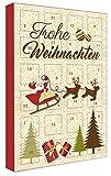 Adventskalender Pralinen - Frohe Weihnachten - mit Alkohol - Frankenwald Confiserie A.Bauer