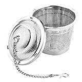 UPKOCH Teefilter Edelstahl Tee Ei Teekugeln Teesieb Gewürzsieb für Losen Tee Mulling Gewürze 6.5cm (Silber)