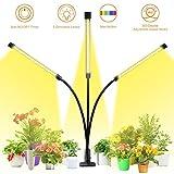 LED Pflanzenlampe, GLIME Pflanzenlicht Vollspektrum 30W 60 LEDs Grow Lampe 3 Arten Lichtmodus 5 Stufen Helligkeit Pflanzenleuchte 3H/6H/12H Timing-Funktion Grow Light für Garten Zimmerpflanzen