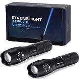 flintronic LED Taschenlampen, 2PCS Handlampe, 5 Modi Wasserdicht Zoombarer Fokus Superhelle Mini-Taktische Taschenlampe für Camping, Outdoor, Notbeleuchtung SOS