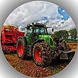 Fondant Tortenaufleger Tortenbild Geburtstag Trecker-Traktor A 13