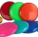 SchwabMarken Frisbee Disc/Frisbees/Wurfscheiben farblich gemischt 5 Frisbee bunt gemsicht - Nicht geeignet als Hundefrisbee!!