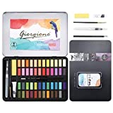 DazSpirit 48 Aquarell Farbkasten, Aquarellfarben Wasserfarben Set, mit Aquarell-Papierblock Vielseitig, Lebendig und Tragbar (48 Farbe)