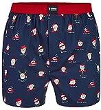 Happy Shorts Herren American Boxer Boxershorts Shorts Webboxer Weihnachten X-Mas Geschenk Weihnachstmann - Santa Claus, Grösse:S - 4-48, Präzise Farbe:Weihnachtsmann - Santa Claus