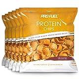 ProFuel Protein CHIPS | Knuspriger Protein Snack mit 42% Protein, fettreduziert | Mit Erbsen- und Reisprotein, Vegan | Leckere Eiweiß-Chips für fitness-bewusste Ernährung | 6x 50g, ORIENTAL