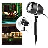 SALCAR LED Lichteffekt Dekoration, innen/außen IP65, 3 Farben/Modi Gartenleuchte Projektor, Mauer Dekoration, Party Licht