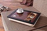 Knie-Tablett'Kaffee' 43x33x7 cm, mit Kissen, Laptoptablett, Betttablett