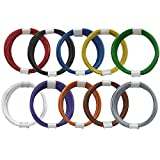GOKarli Kupferschalt Litze alle 10 Farben - extra dünn 0,04 mm je Farbe EIN 10 Meter Ring