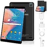 4G LTE Tablet 10 Zoll Android 9.0 Zertifiziert von Google GMS, 3 GB RAM 32 GB ROM Quad Core, Drei Kameras, Dual SIM, 8000 mAh Tablets WiFi, GPS, Bluetooth, OTG - Schwarz