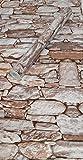 Visario Tapeten Folie 3000-S selbstklebend 10m x 45cm 5 Motive Steinoptik Steine Dekorfolie Möbelfolie Tapete (3008)