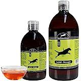 Greenhound Schecker 100% Lachsöl aus Norwegen 1 x 1L Hochwertiges Pressöl vom norwegischen Lachs mit 84,5% ungesättigte Fettsäuren