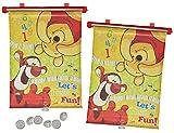 alles-meine.de GmbH 2 TLG. Set Sonnenschutz Rollo - Winnie The Pooh - für Fenster und Auto Seitenscheibe - Sonnenblende - Jungen Mädchen Kinder Baby - Sonnenrollo - Puuh Bär Tigg..