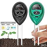 MEISHANG 2PCS Boden Feuchtigkeit Meter,Bodenmessgerät Feuchtigkeitsmesser,3 In 1 Tester Feuchtigkeit des Bodens,Bodentester Ph-Tester,Sonnenlicht Tester,Boden Feuchtigkeit