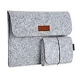 dodocool 13,3 Zoll Filz Sleeve Hülle Ultrabook Laptop Tasche für 13' MacBook Pro/Retina/MacBook Air, iPad Pro 12.9 Tasche