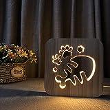 Monochrome Speziallampe Fischgräte Massivholz Nachtlicht Geschenk Lichtidee 3