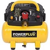 Powerplus kraftvoller Druckluft Kompressor 1.100 Watt Leistung, 1,5 PS, 6 Liter Tank - Art. Nr. POWX1721