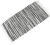 Bereich Teppich Famibay Rutschfest Handarbeit Teppiche für Wohnzimmer Chindi Recycelt Baumwolle Teppich Mehrfarbig Flickenteppich 60x120cm/24x47in (ca.)