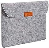 AmazonBasics Laptop-Tasche, Filz, für Displaygrößen bis 13 Zoll , Hellgrau