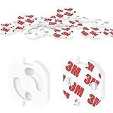AMAYGA [20 Stück] Kindersicherung für Steckdose mit Drehmechanik,Canwn Steckdosensicherung für Baby und Kinder Kindersicherheit Steckdosenschutz,weiß