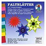 Ursus 2645199 - Faltblätter Transparentpapier, ca. 20 x 20 cm, 42 g/qm, 500 Blatt, sortiert in 10 Farben