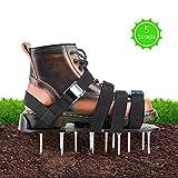 DEZEHUI Rasenbelüfter Schuhe, Rasenlüfter Vertikutierer Universelle Größe 30cm Lange 5,5cm