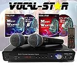 Vocal-Star VS-400 CDG DVD HDMI Karaoke-Maschine inkl. 2 Mikrofone & Songs