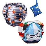 Lictin Schwimmwindel Baby 2-teilig Baby Schwimmhose Baby Badewindelhose Schwimmwindel junge für Kleinkinder 0-3 Jahre