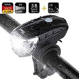 ELOSIS LED Fahrradlicht Fahrradbeleuchtung Stvzo Zertifizierung USB Fahrradlampe Fahrradlichter Wiederaufladbare Fahrrad Frontlicht Fahrradleuchte Licht Sensor Auto Fahrradlampen für MTB Rennrad