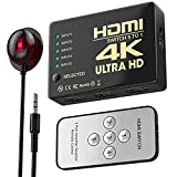HDMI Switch 4K,WATSABRO HDMI Splitter Bi-Direction 5 In 1 Out Splitter Unterstützt 3D/4K/HDR/UHD/HD/1080P,HDMI 60hz Konverter Mit Fernbedienung Geeignet für TV/Blu-Ray/Heimkino/Konferenzraum/Xbox/PS4