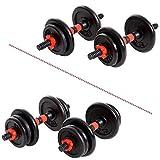 XN8 Hanteln Set Verstellbare- Hantelgewichte 15Kg-20 Kg Kurzhanteln Gewichte für Männer Frauen Workouts Schwere Hanteln für Fitnessstudio Zuhause