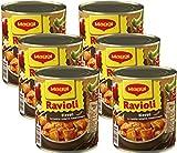 MAGGI Ravioli Diavoli, Teigtaschen mit Fleischfüllung, in fruchtig-scharfer Tomatensauce, für Topf & Mikrowelle, 6er Pack (6 x 800 g)
