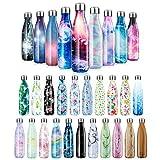 Fancytimes Edelstahl Trinkflasche Vakuum Wasserflasche - Premium Isolierflasche Thermosflasche Sportflasche 24 Std. Kalt und 12 Std. Heiß für Sport, Laufen, Yoga, Wandern, Camping - 500/750 /1000 ml