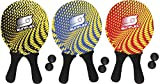 Sunflex Neopren Beachball Set Splash mit Zwei Schlägern und Zwei Bällen|weich und leicht|extrem robust und wasserfest